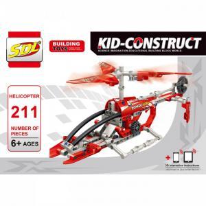 Конструктор  Kid-Construct Вертолет (211 деталей) SDL