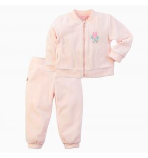 Комплект джемпер/брюки  Тюльпаны, цвет: розовый Free Age