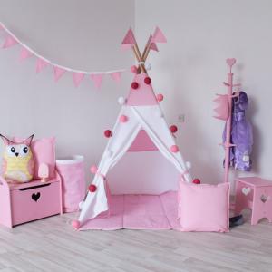Вигвам Simple Pink с окном и карманом VamVigvam