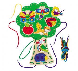 Развивающая игрушка  Шнуровка Дерево Goki