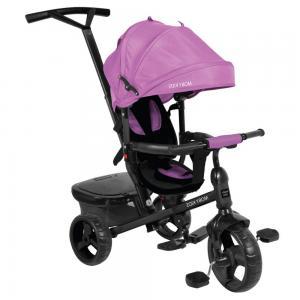 Трехколесный велосипед  Rider 360° 10x8 EVA, цвет: фиолетовый Moby Kids