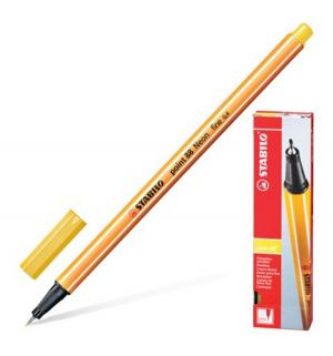 Ручка капиллярная  Point 0.4 мм желтый Stabilo