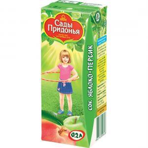Сок  яблоко-персик, 200 мл Сады Придонья