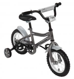 Двухколесный велосипед  G12BD702, цвет: серый Leader Kids