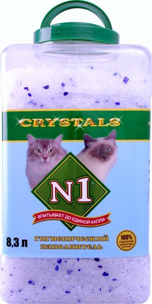 Наполнитель силикагелевый  Crystals (пл.банка), 8.3л №1
