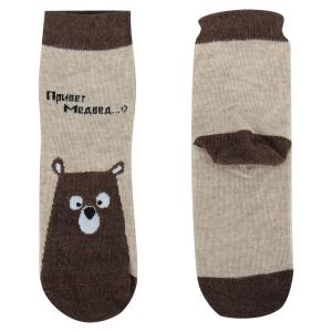 Носки  Медведи, цвет: коричневый Mark Formelle