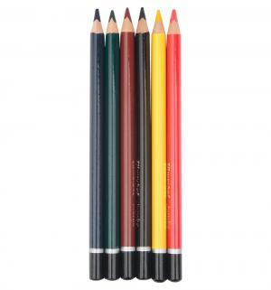 Карандаши цветные  Джинсовая коллекция Jumbo 6 цв. трехгран. Silwerhof