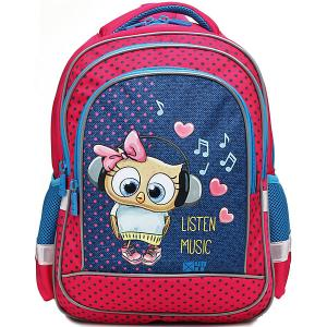 Рюкзак  Линия School, розовый 4ALL. Цвет: синий