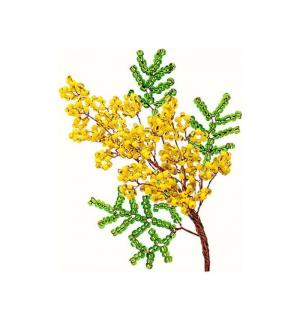 Набор для творчества Клеvер Мимоза Цветы из бисера Клевер