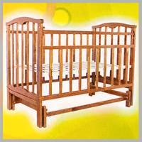 Кровать-качалка  Золушка 3, цвет: орех Агат