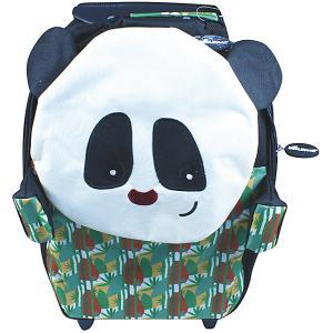 Чемодан Deglingos Rototos Le Panda, высота 46 см. Цвет: черный