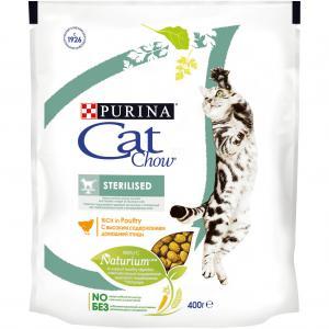 Корм сухой  Special Care Naturium для взрослых кошек после кастрации/стерилизации, птица, 400г Cat Chow