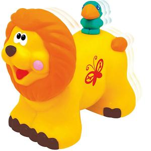 Развивающая игрушка  Каталка Львенок Kiddieland. Цвет: желтый