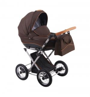 Коляска 2 в 1  Parrilla, цвет: dark brown Lonex