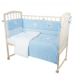 Комплект постельного белья  My Bonny 6 предметов наволочка (60 х 40 см), цвет: голубой Bebe Luvicci