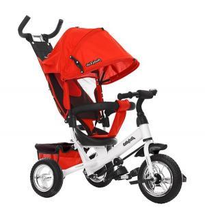 Трехколесный велосипед  Comfort 10x8 EVA, цвет: красный Moby Kids