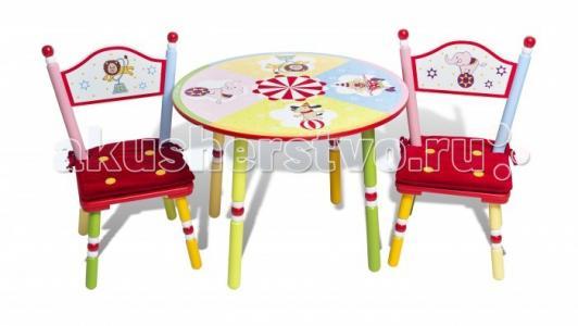 Комплект из стола и двух стульев Circus Major-Kids