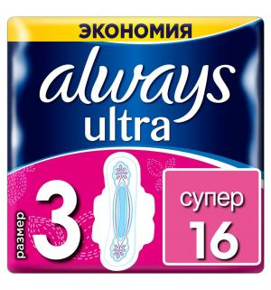 Прокладки  Ultra Super Plus Duo, 16 шт Always