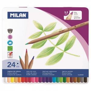 Карандаши цветные 24 цвета шестигранные в металлической упаковке 80058 Milan