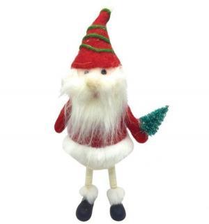 Фигурка  Санта с елочкой 22 см Новогодняя сказка