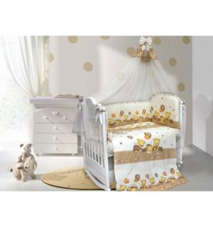 Комплект постельного белья  Мишутки 7 предметов, цвет: бежевый Bombus