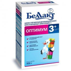 Молочный напиток  Оптимум 3+ с 12 месяцев, 400 г Беллакт