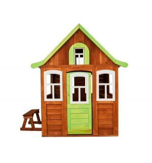 Домик  Цветочный, цвет:коричневый/зеленый Можга