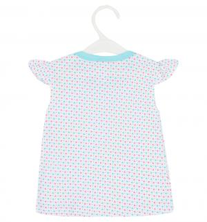 Комплект футболка/шорты  Girl, цвет: голубой Aga