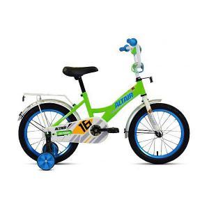 Двухколёсный велосипед ALTAIR Kids, 14 дюймов. Цвет: синий/зеленый