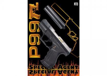 Пистолет с глушителем Специальный агент P99 25-зарядный 298 мм Sohni-wicke