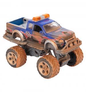 Фрикционная машинка  внедорожник Rally Monster синий с имитацией грязи 15 см Dickie