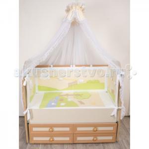 Комплект в кроватку  Летнее утро (7 предметов) Селена (Сдобина)