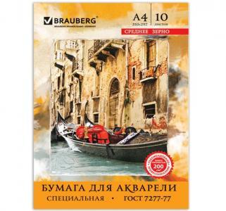 Папка А4 мелованный картон  для акварели Brauberg