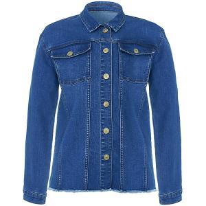 Куртка джинсовая  для девочки Button Blue. Цвет: синий