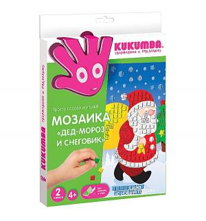 Мозаика  С Новым годом Дед Мороз и Снеговик Kukumba