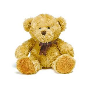 Мягкая игрушка плюшевый мишка Хьялле 20 см, светло-коричневый Teddykompaniet. Цвет: желтый