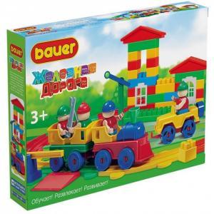 Конструктор  Железная дорога (115 элементов) Bauer