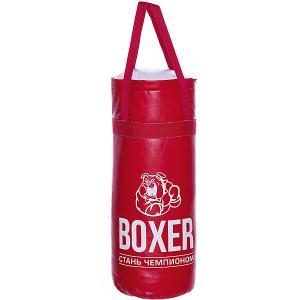 Набор для бокса Боксер 3, 50 см, красный Лидер. Цвет: красный