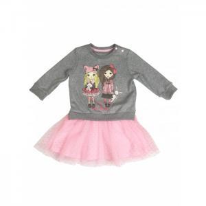 Платье с сетчатой юбочкой Маленький кролик Soni Kids
