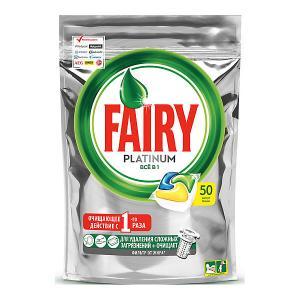 Капсулы для посудомоечной машины  Platinum All in One Лимон 50 шт/уп Fairy. Цвет: weiß/beige