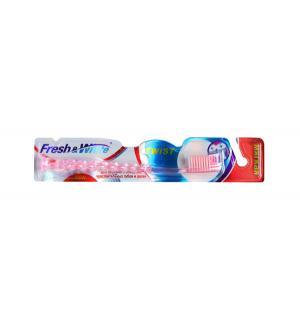 Зубная щетка  Twist, цвет: розовый Fresh&White