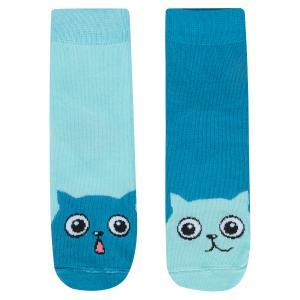 Носки  Коты, цвет: бирюзовый Mark Formelle