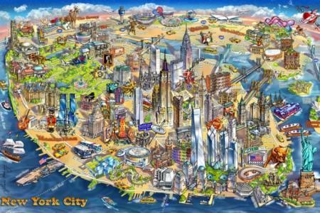 Пазл Карта Нью-Йорка 500 деталей Educa