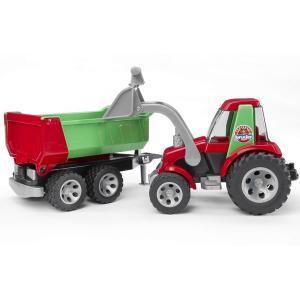 Трактор с ковшом и прицепом Roadmax Bruder