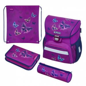 Ранец Loop Plus Glitter Butterfly с наполнением Herlitz