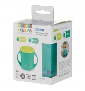 Чашка-поильник  2 в 1, с 18 месяцев, цвет: бирюзовый Bebe Due