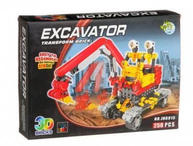 Конструктор  Toys Страйп Экскаватор JH6915 (250 элементов) Dragon