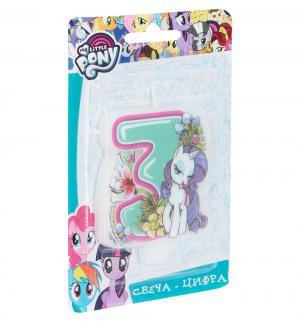 Свеча-цифра  №3 4 см My Little Pony