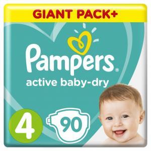 Подгузники Active Baby-Dry Maxi р.4 (9-14 кг) 90 шт. Pampers