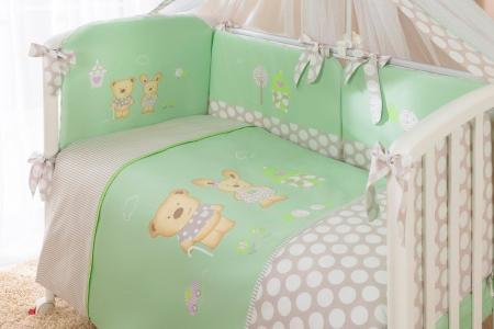 Комплект постельного белья  Венеция, цвет: салатовый 7 предметов Perina